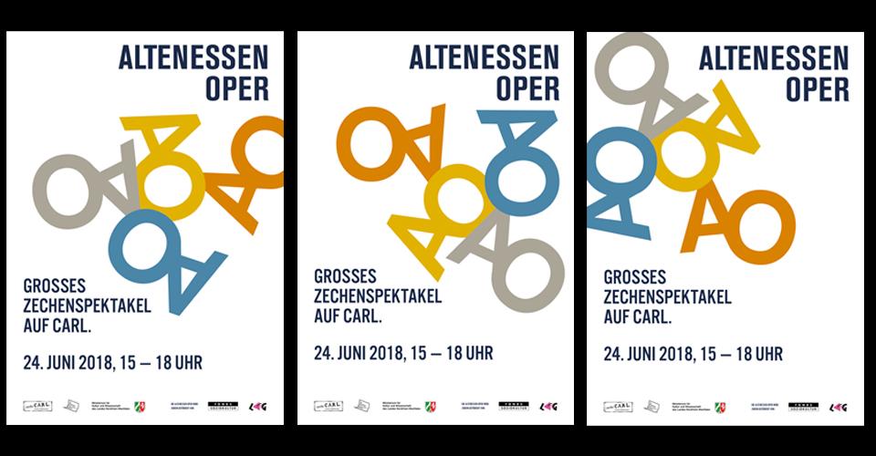 Plakate und Flyer für die Altenessen Oper (Zeche Carl)