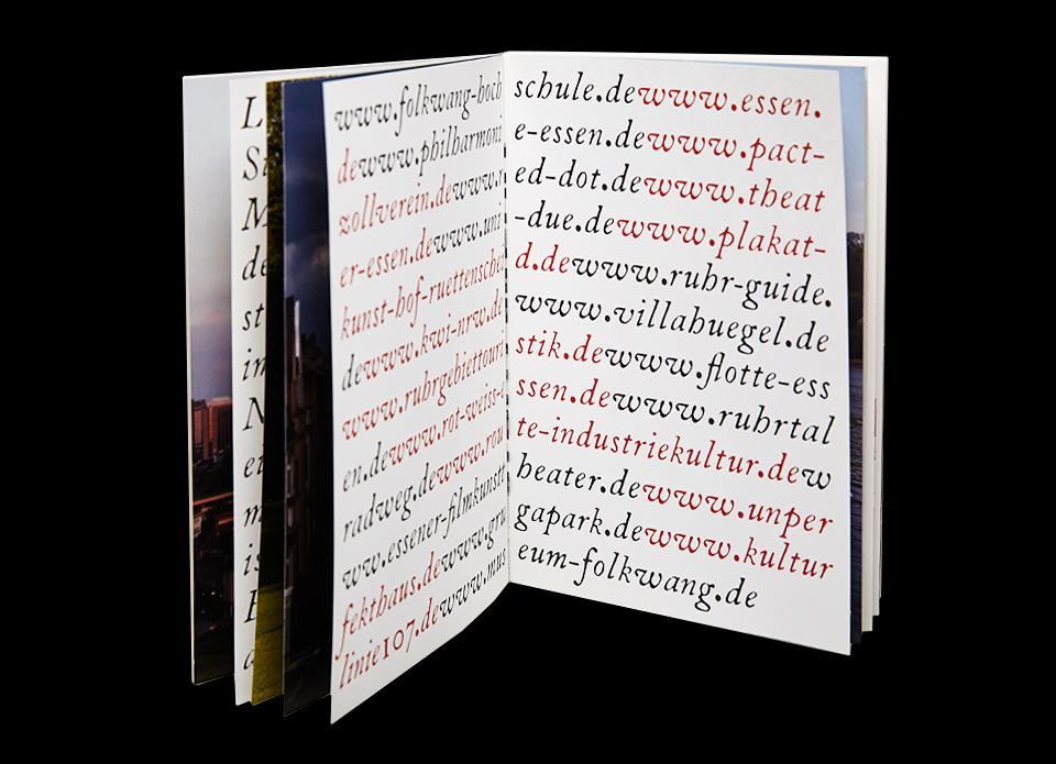 Buch Gestaltung Folkwang Universitaet der Kuenste