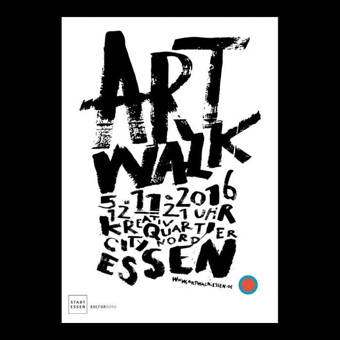 Plakatgestaltung und Veranstaltungsausstattung / Artwalk / Kulturbüro, Stadt Essen