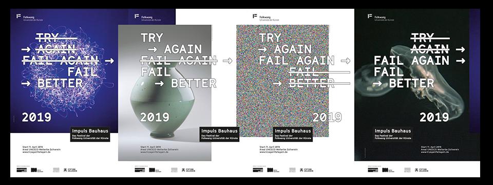 Plakatreihe Impuls Bauhaus Festival