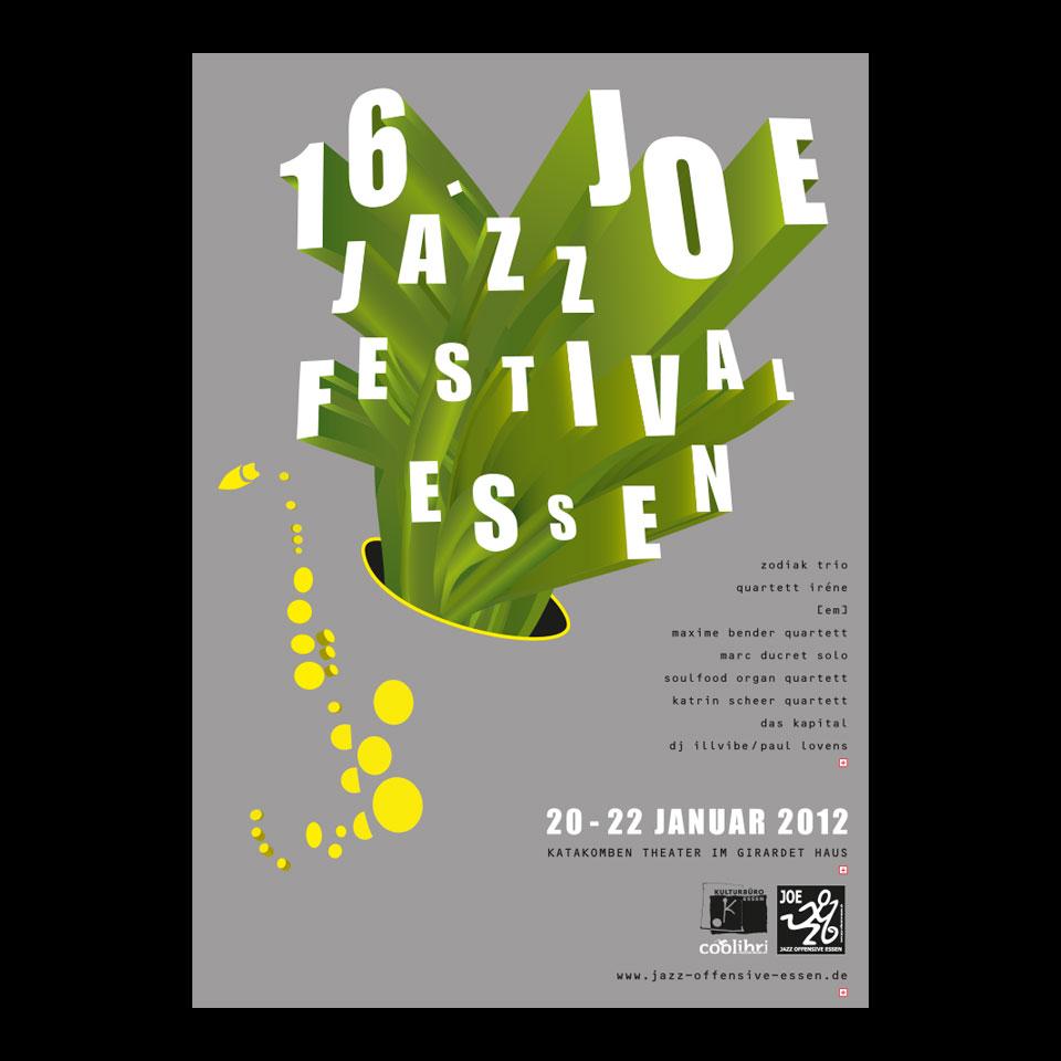 Plakatgestaltung und Veranstaltungsausstattung / Joe Jazz Festival
