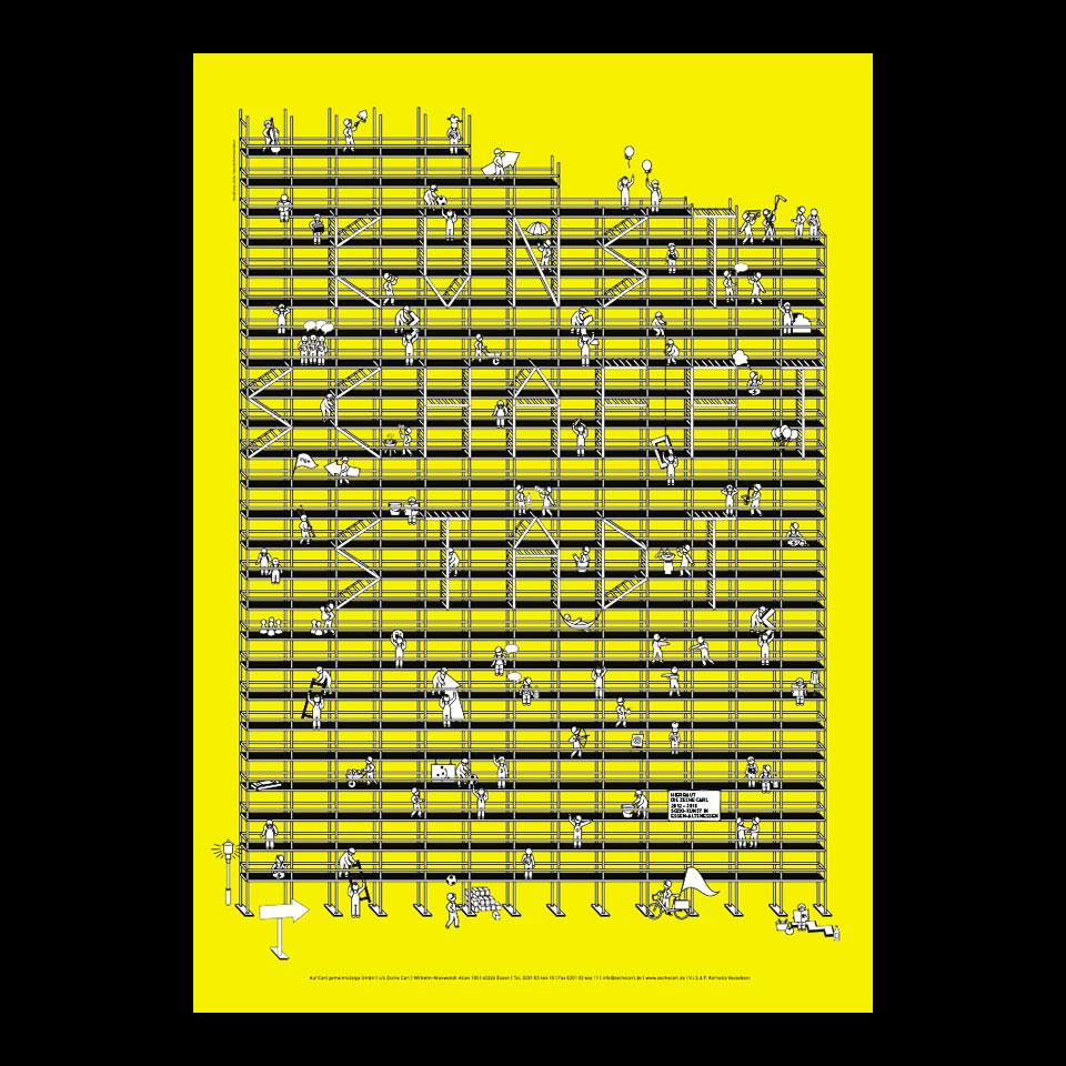 Plakatgestaltung und Projektdokumentation / Kunst schafft Stadt / Zeche Carl